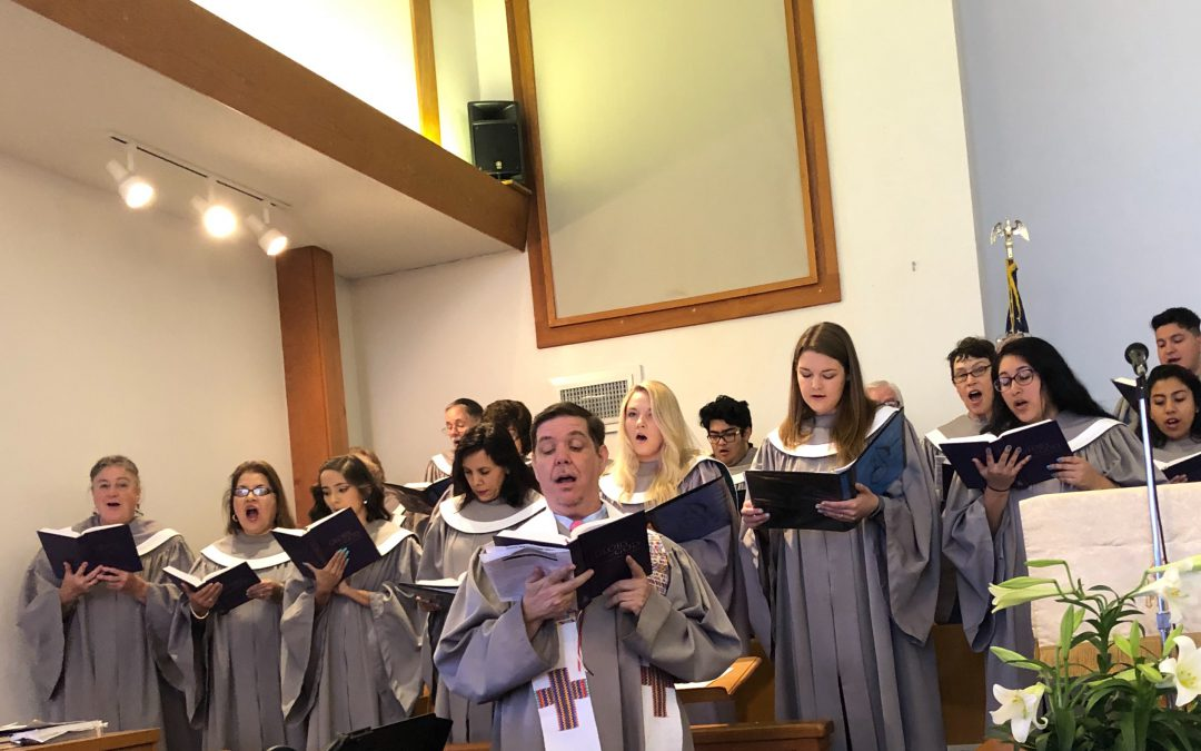 Great Easter Sunday Service with 20 voices in the choir. The music and entire service was a true joy